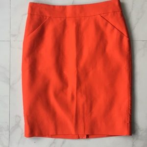"""New with tags JCrew """"hot coral"""" The Pencil Skirt"""